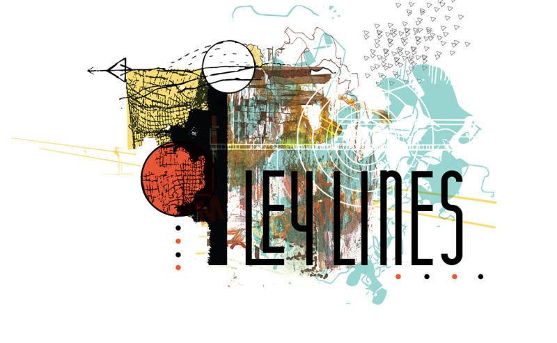 Line Art Media Design : Ley lines connecting media process imagery and concept across